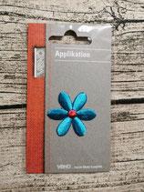 Applikation Blume türkis