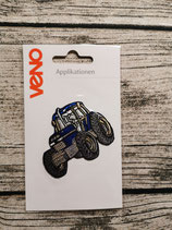 Applikation Traktor blau