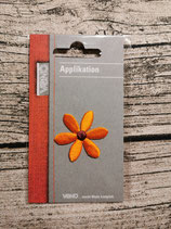 Applikation Blume orange