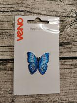 Applikation Schmetterling blau