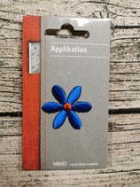 Applikation Blume blau