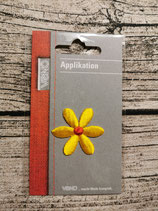 Applikation Blume gelb