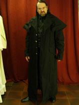 Mantel lang, schwarz, ungefüttert (IM5126)