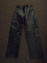 Leder-Hose schwarz Größe  31  (MAT)