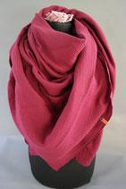 .. Schal Quadrat bordeaux Baumwolle ca 140 cm