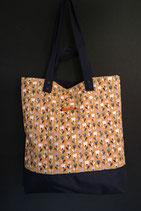 177. Freizeittasche Send Blume Baumwolle/ dunkelblau