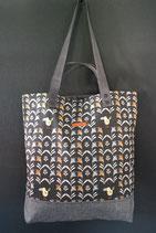 43. Freizeittasche Vogel Baumwolle/ matt dunkelgrau