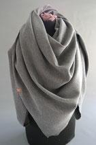 12. Schal Quadrat Jersey Grau Baumwolle ca 145 cm