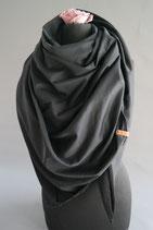56. Schal Quadrat Jersey schwarz Baumwolle ca 130 cm