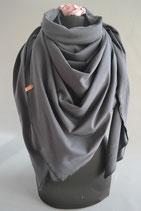 17. Schal Quadrat Jersey schwarz Baumwolle ca 145 cm