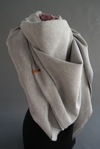 7. Schal Quadrat Jersey Hellgrau Baumwolle ca 145 cm