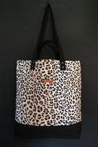 207. Freizeittasche Leopard Canvas/ schwarz