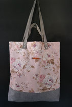 7. Freizeittasche Cremerosa Rose Canvas/ matt grau
