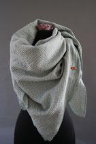 .. Schal Quadrat Hell Mint Punkte Baumwolle ca 140 cm