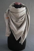 5. Schal Quadrat Jersey Mittegrau Baumwolle ca 145 cm