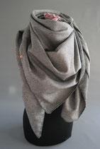 24. Schal Quadrat grau Baumwolle ca 140 cm