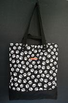 204. Freizeittasche Pforte schwarz Baumwolle/ schwarz