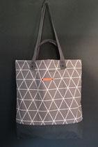 54. Freizeittasche grau Dreieck Baumwolle/ dunkelgrau