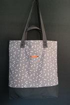 55. Freizeittasche grau Dreieck Baumwolle/ dunkelgrau