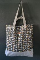 3. Freizeittasche Vogel Baumwolle/ matt grau
