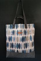 44. Freizeittasche Blau Canvas/ matt dunkelgrau