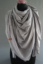 39. Schal Quadrat Jersey grau Baumwolle ca 140 cm