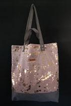 23. Freizeittasche Rosa Gold Wildstoffe/ grau