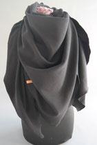 16. Schal Quadrat Jersey schwarz Baumwolle ca 145 cm