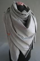 20. Schal Quadrat Jersey schwarz/weiß Baumwolle ca 145 cm