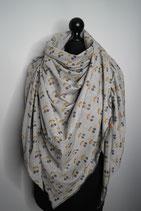 5.  Schal Dreieck Krisch grau Glitzer Jersey Baumwolle ca 150 cm