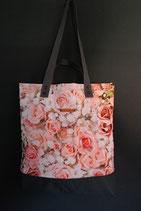 61. Freizeittasche Rose Baumwolle/ dunkelgrau