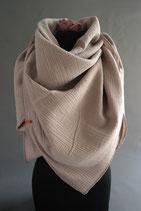 .. Schal Quadrat Beige Sand Baumwolle ca 140 cm