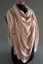 43. Schal Quadrat Jersey Beige Glitzer Baumwolle ca 140 cm