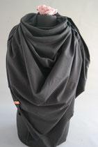 29. Schal Quadrat Jersey schwarz Baumwolle ca 140 cm