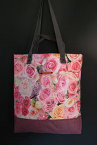 94. Freizeittasche Rosa Rose Canvas/ rotlila
