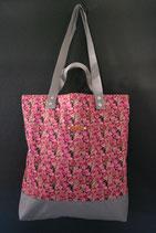 18. Freizeittasche Pink Rose Baumwolle/ grau