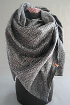14. Schal Quadrat Winter grau Baumwolle ca 145 cm