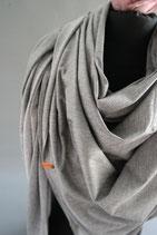 38. Schal Quadrat Jersey grau Baumwolle ca 140 cm