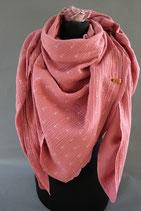 .. Schal Quadrat Cremerosa Anker Baumwolle ca 140cm
