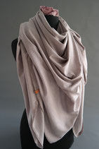 42. Schal Quadrat Jersey Taupe Baumwolle ca 140 cm
