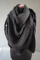 32. Schal Quadrat schwarz Baumwolle ca 140 cm