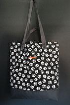 52. Freizeittasche weiss schwarz Pforte Baumwolle/ dunkelgrau