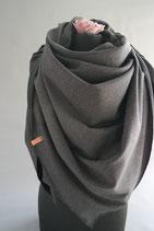 47. Schal Quadrat Jersey Dunkelbraun Taupe Baumwolle ca 135 cm