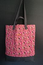 66. Freizeittasche Pink Rose Baumwolle/ dunkelgrau
