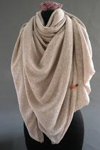 37. Schal Quadrat Beige Baumwolle ca 140 cm