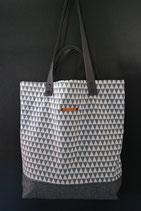 32. Freizeittasche Dreieck grau Baumwolle/ matt dunkelgrau
