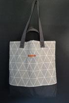 60. Freizeittasche Mint Dreieck Baumwolle/ dunkelgrau