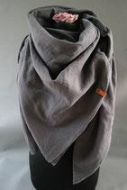 23. Schal Quadrat Mittelgrau Baumwolle ca 140 cm