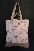 101. Freizeittasche cremeweiß Rose Canvas/ beige