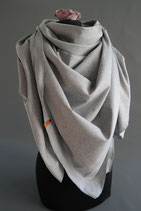 8. Schal Quadrat Jersey grau Baumwolle ca 145 cm